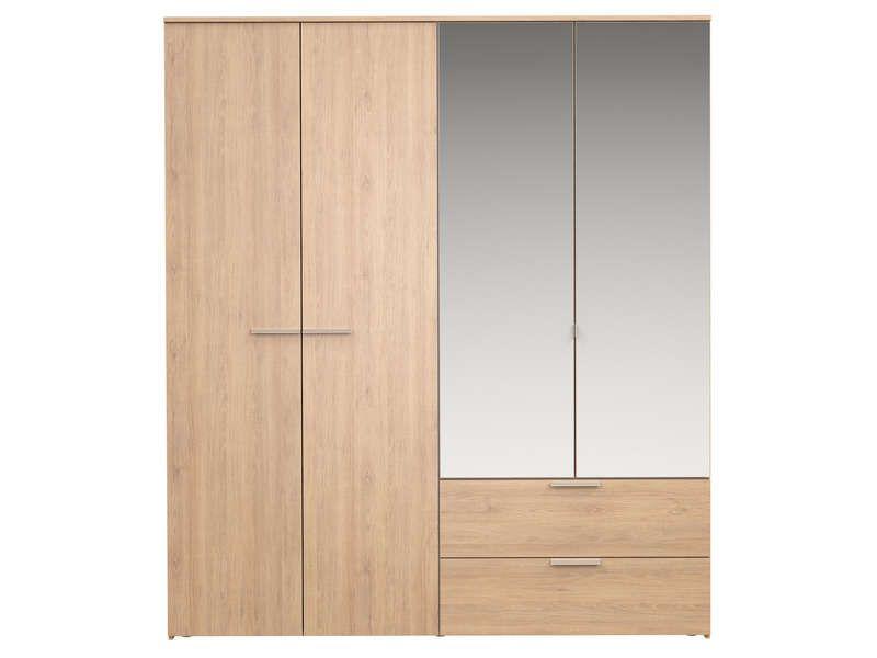 Armoire 4 portes battantes TEMPO 1 - Vente de Armoire - Conforama ...