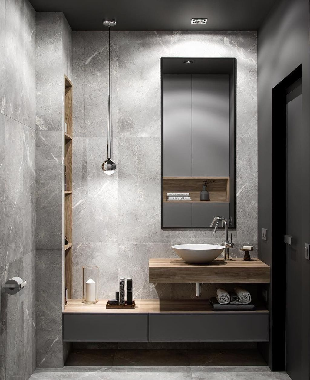 30 Casual Bathroom Designs Ideas With Addition Of Stone For Elegant Look In 2020 Bathroom Design Modern Bathroom Grey Bathrooms Designs