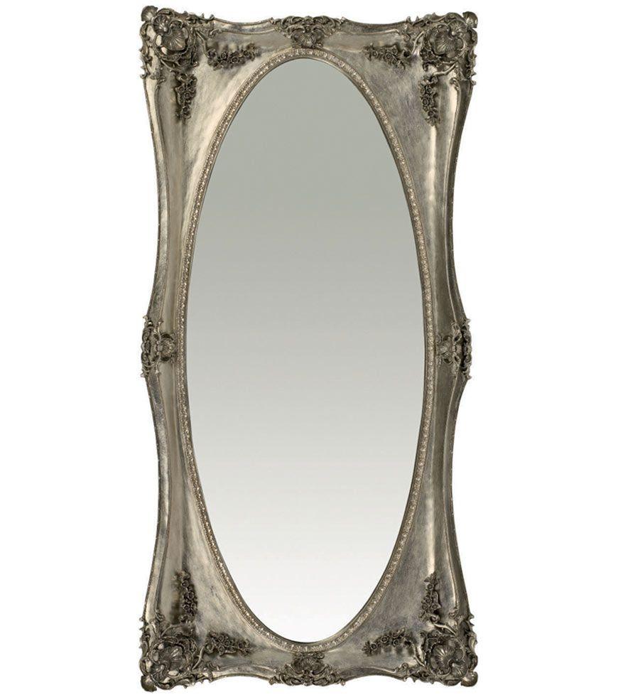 Laura Ashley - Beth Silver Floor Mirror - classically styled ...