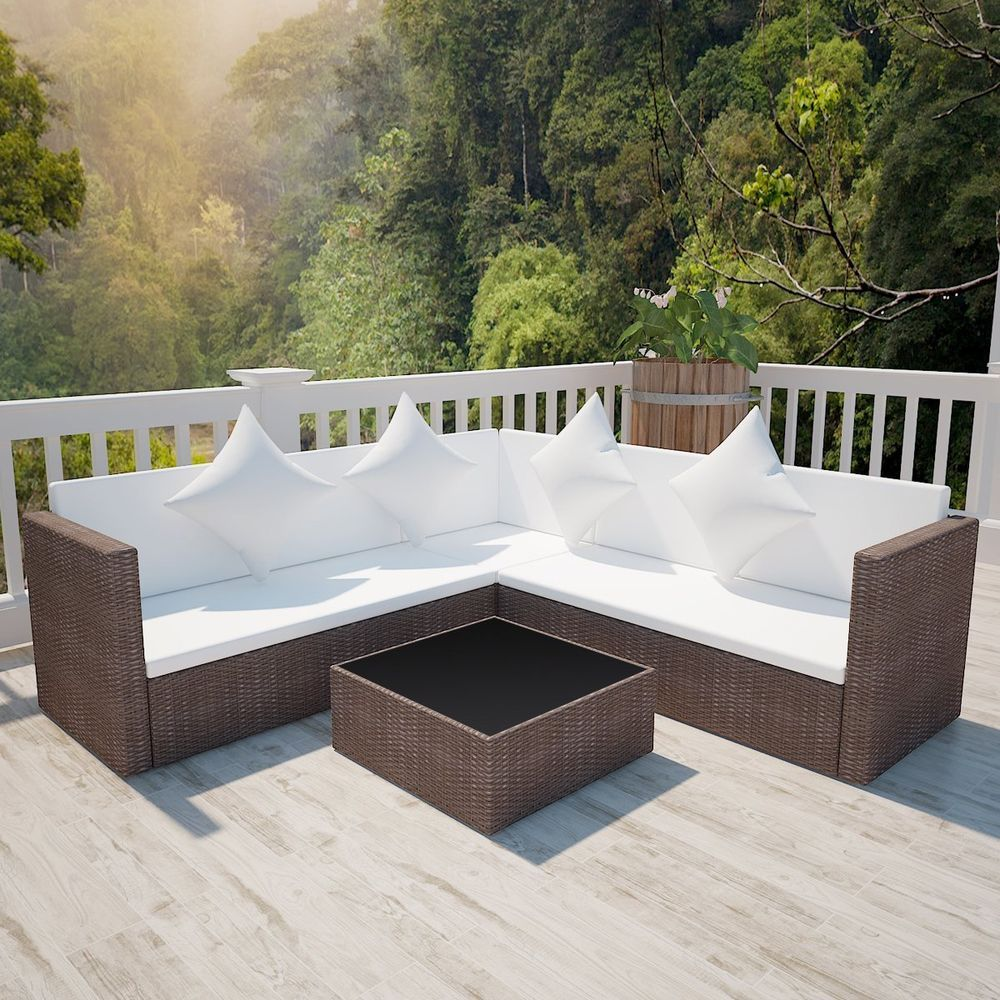 Outdoor Rattan Wicker Sofa Patio Sectional Couch Lounge Garden