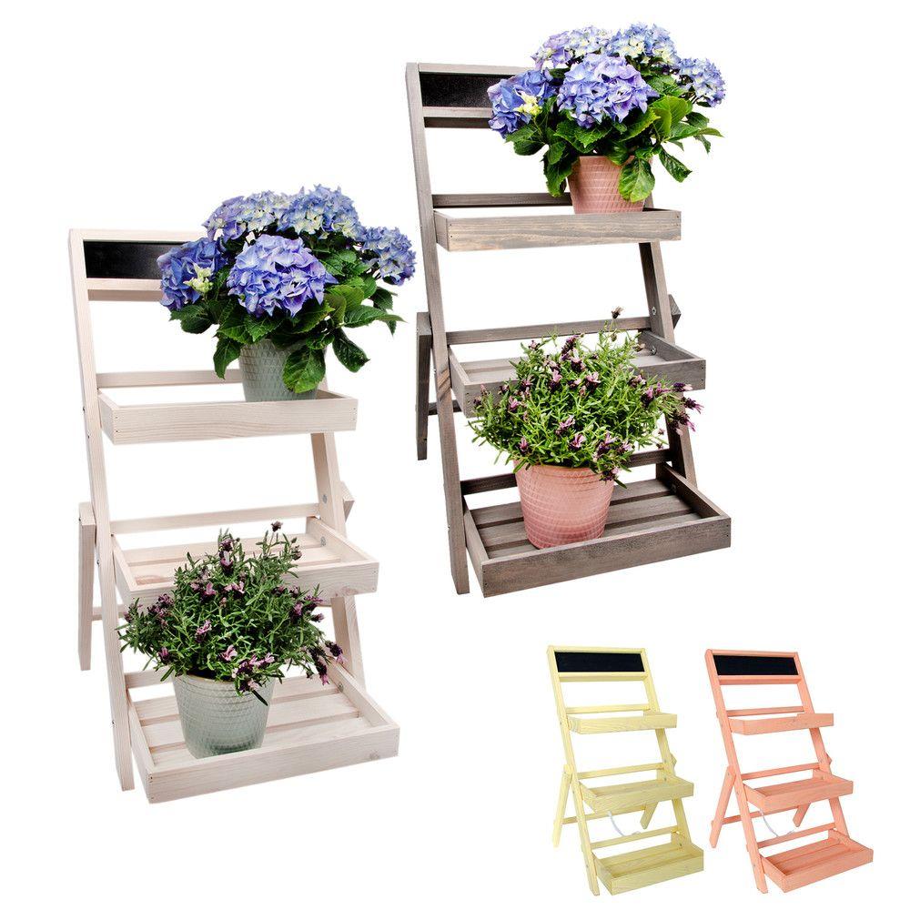 Pflanzentreppe Aus Holz Fur Garten Und Balkon In Blumentreppe Ikea Mit Wood Trellis Wood Working Gifts Woodworking Projects