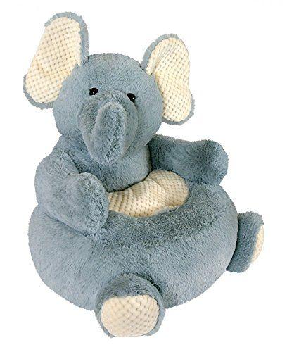 Stephan Baby Plush Elephant Chair, Grey/Cream Stephan Baby Https://www