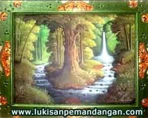 Lukisan Pemandangan Hutan Seni Pemandangan Dan Seni Rupa