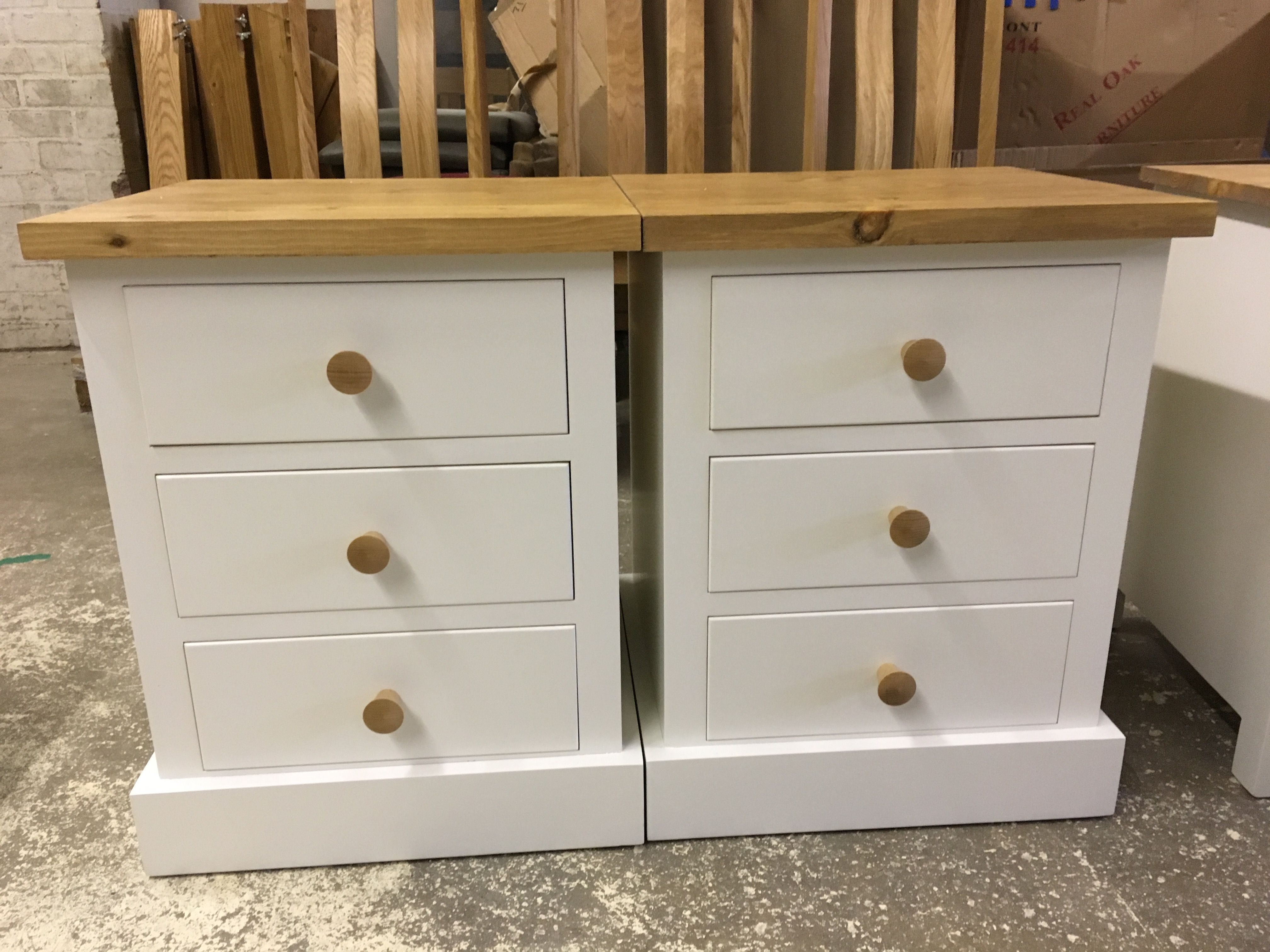 Set Of Bespoke Waxed Pine Bed Side Tables In Ivory Made By Cobwebs Furniture Company Pine Furniture Furniture Solid Wood Furniture