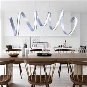 Eu lager led pendelleuchte modern stilvoll aus aluminium for Wohnzimmerleuchten led modern