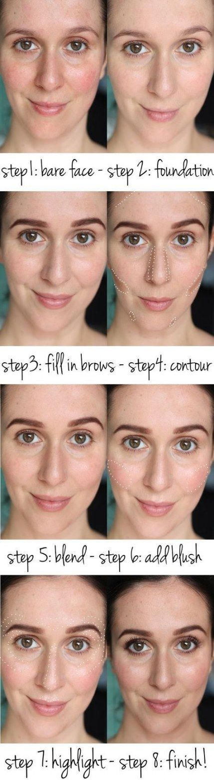 How To Contour Your Face For Dummies Beauty Tips 29