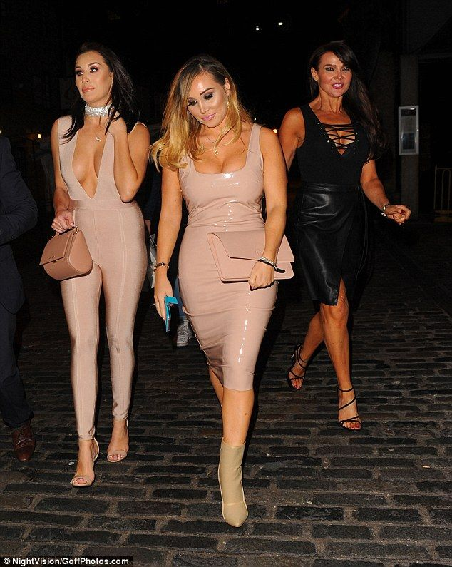 Braless Chloe Goodman Joins Busty Sister Lauryn At Beauty Launch