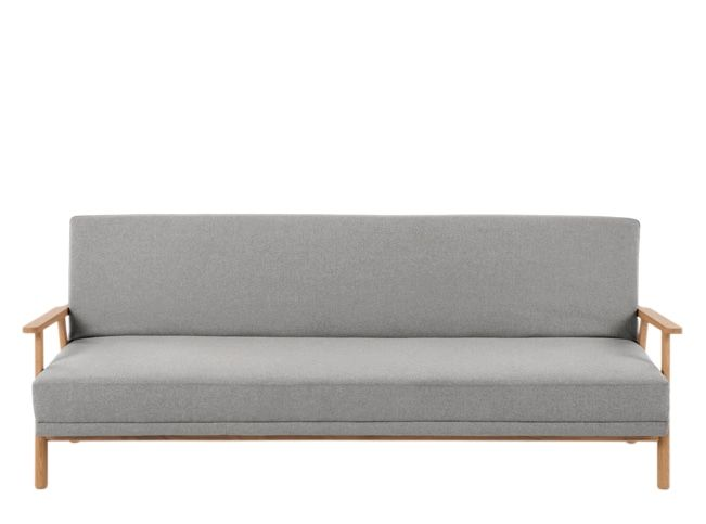 Lars Click Clack Sofa Bed Mountain Grey And Oak Frame Grey Sofa Bed Sofa Bed With Storage Sofa Bed