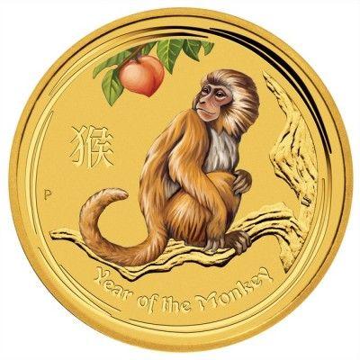 5 Dollar Gold Affe 1 20 Unze Farbe Un Numismatik Modern