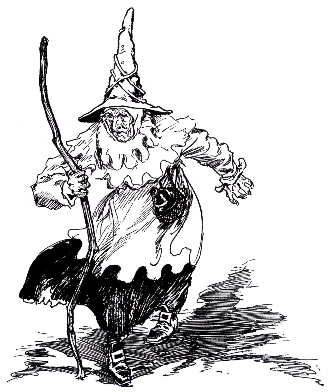 Un effrayante sorcière (ancienne illustration)A partir de