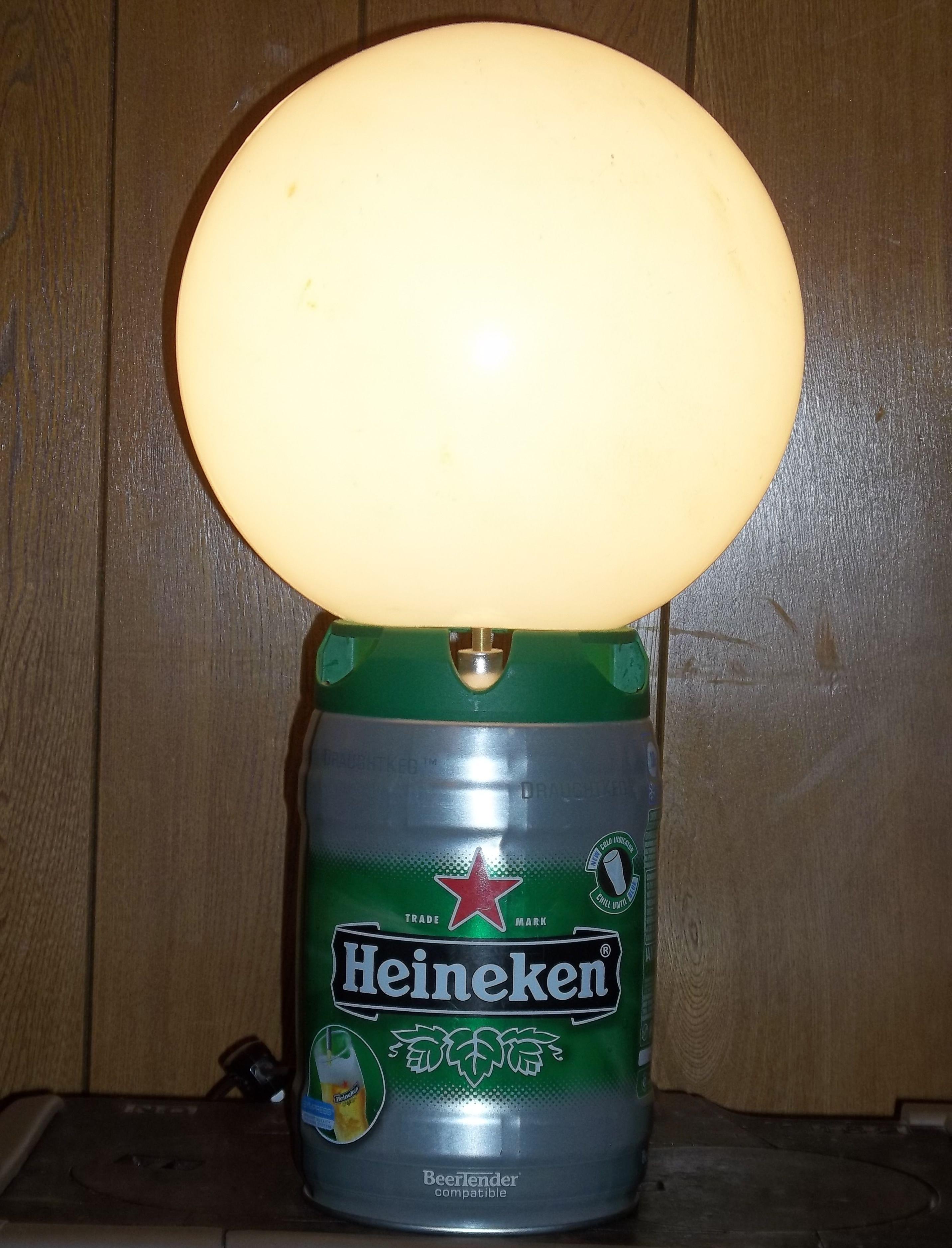 funky outdoor lighting. Mini-keg+lamp Guts+plastic Globe From Old Outdoor Lamp\u003dfunky Table Funky Lighting