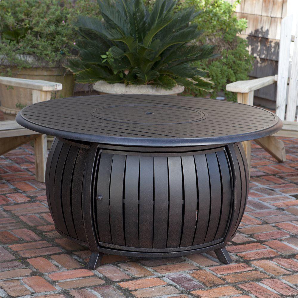 shop fire sense extruded aluminum round lp fire pit table