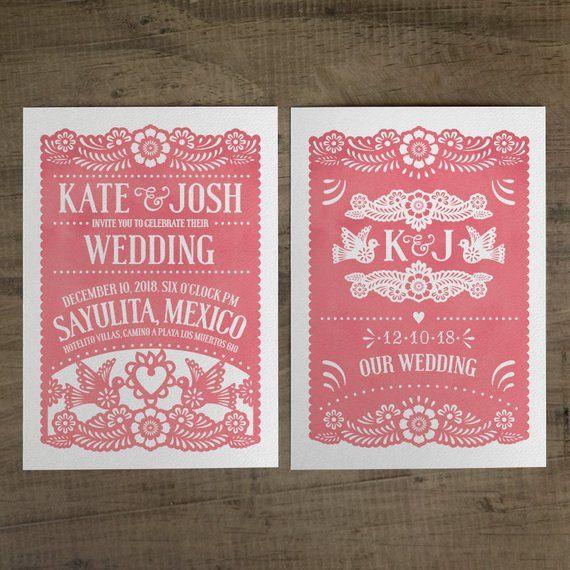 Papel Picado Wedding Invitation Suite