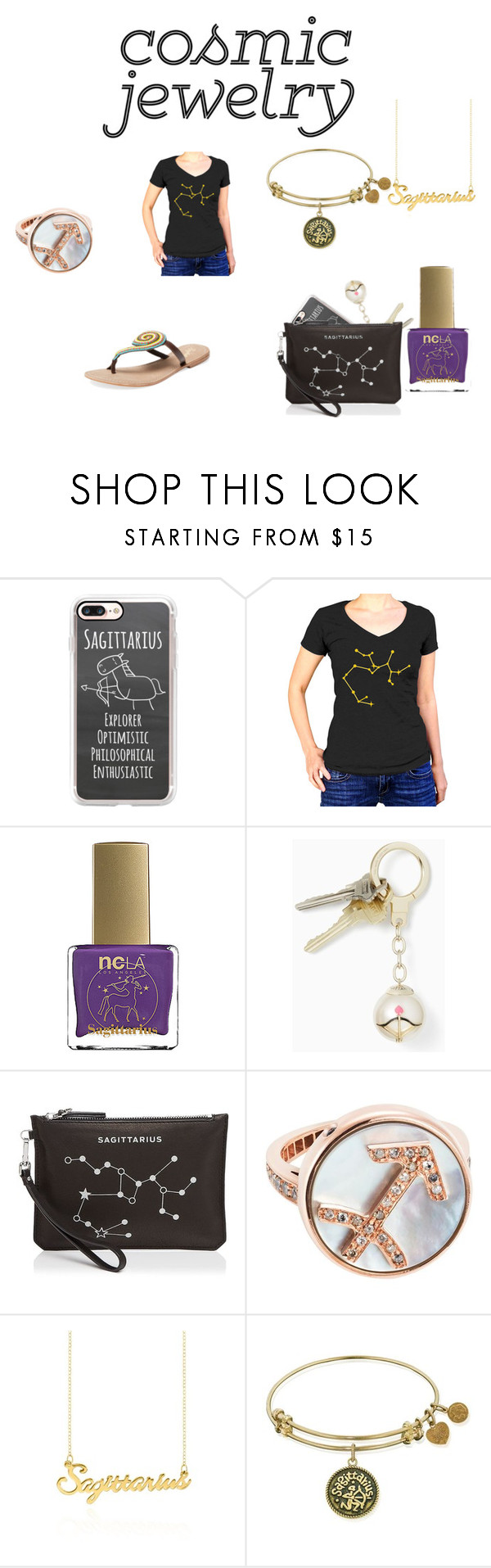 """""""Sagittarius"""" by silverrayz ❤ liked on Polyvore featuring Casetify, ncLA, Kate Spade, Etienne Aigner, Carolina Bucci, Belk & Co. and Seychelles"""