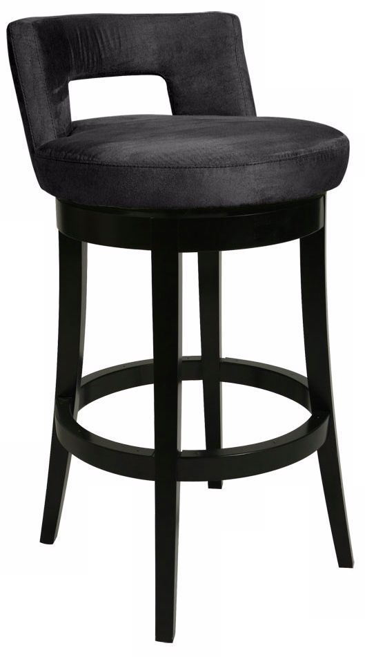 Pastel Eka Black 30 High Swivel Bar Stool P6435