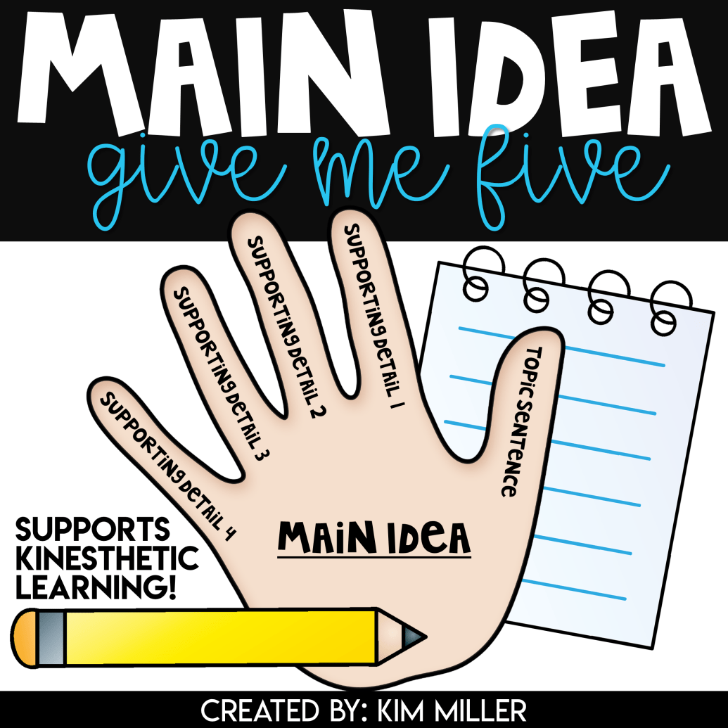 Main Idea Give Me Five With Images