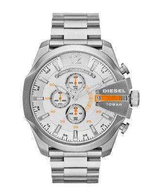 Diesel DZ4328 Mega Chief zilver roestvrij staal Heren Horloge