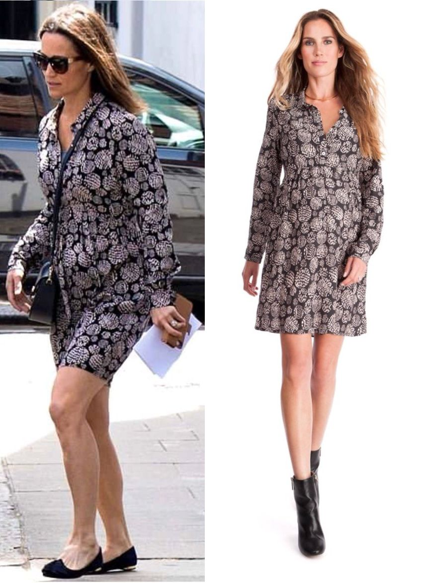 51cbbc06ff8680 SHOP Seraphine Printed Woven Maternity Shirt Dress as seen on Pippa  Middleton