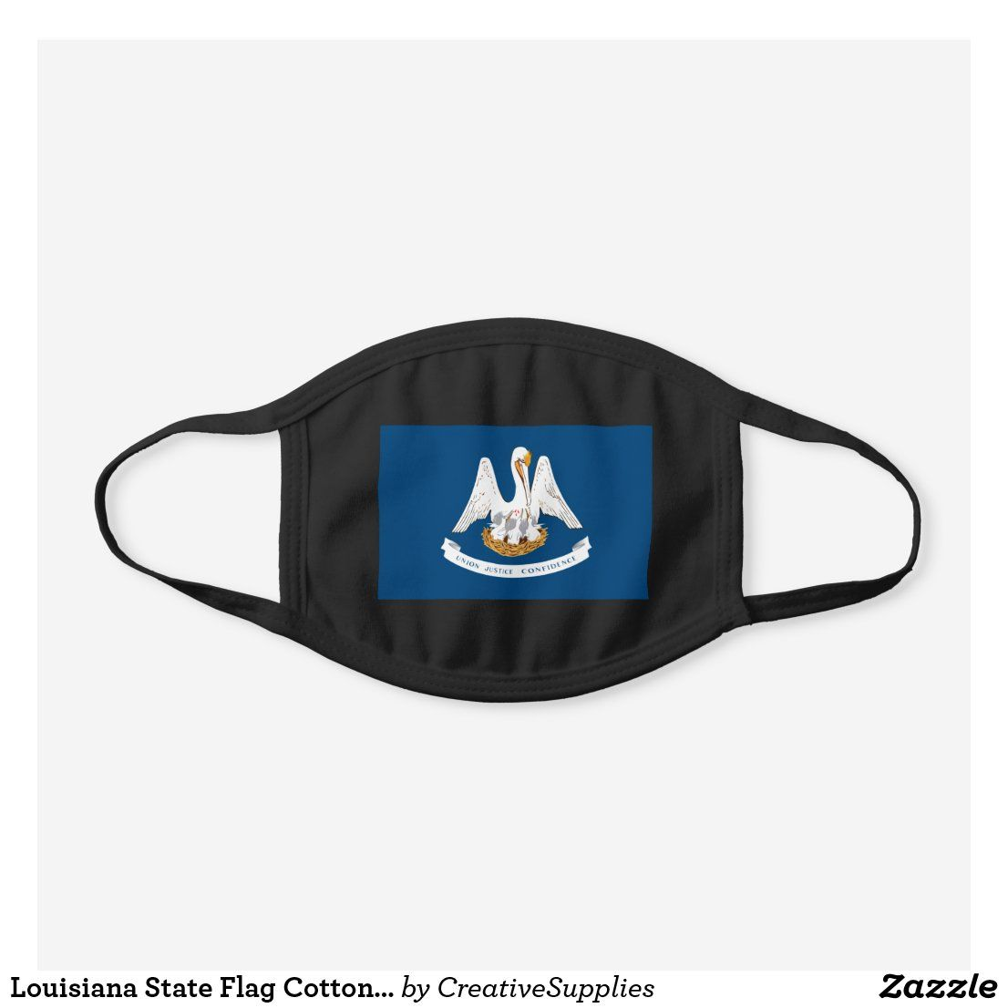 Louisiana State Flag Cotton Face Mask Zazzle Com In 2020 Face Mask Louisiana State Flags