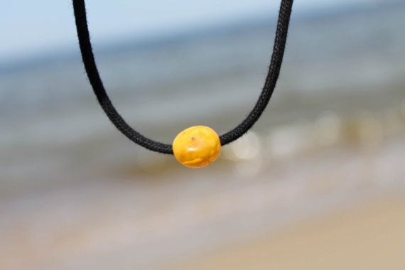 Amber Cord Mecklace Honey Cognac Baltic Charm by AmberRoadJewelry, $17.00
