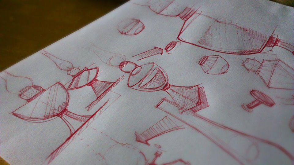 Oil lamp doodles