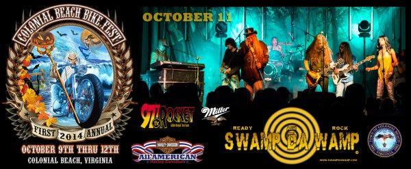 Swamp da Wamp is invading Colonial Beach Bike Fest in Colonial Beach, VA on October 11th! @swampdawamprox http://swampdawamp.com