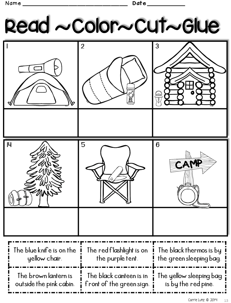 Camping Worksheets End Of Year Packet Preschool Art ActivitiesCamping