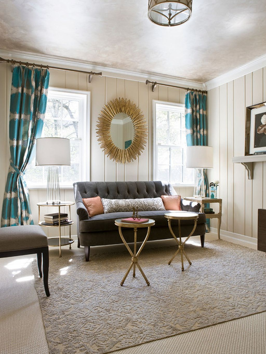 118 painting wood paneling ideas  turquoise room living