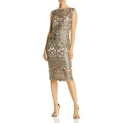 Tadashi Shoji Womens Delta Lace Sequined Cocktail Party Dress BHFO 0926 | eBay