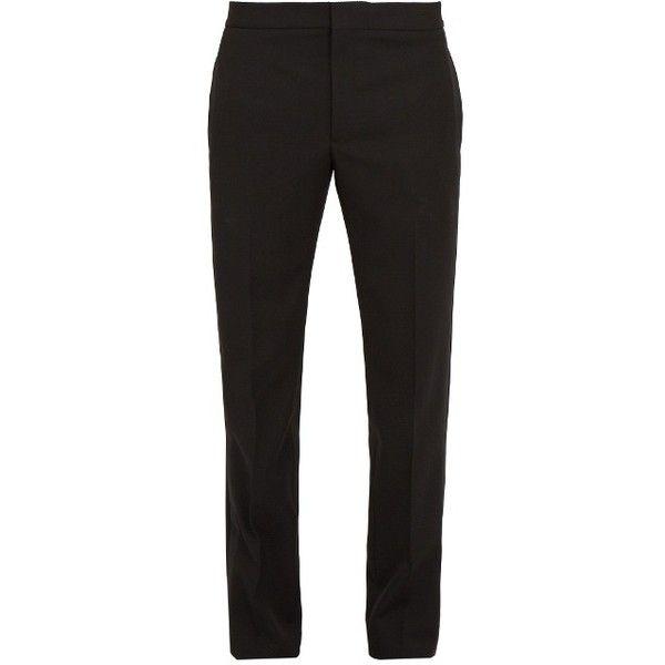 Slim-leg side-stripe wool tuxedo trousers Saint Laurent Safe Payment uU0WvqIzEI