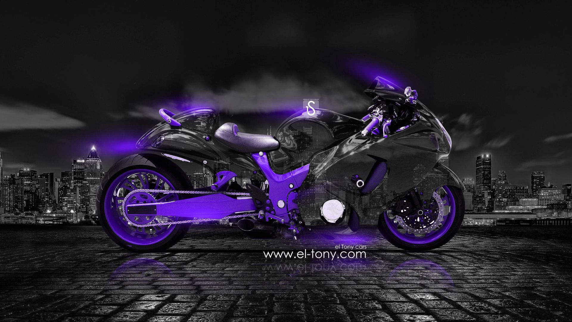 Charmant Moto Suzuki Hayabusa Crystal City Car 2014 Violet