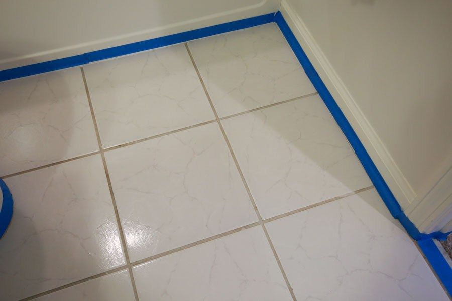 How to Paint Tile Floor in a Bathroom is part of Painting bathroom, Painting tile, Tile bathroom, Painting bathroom tiles, Painting tile floors, Tile floor - How to paint tile floor in a bathroom  Painting bathroom floor tiles is an easy and budget friendly way to quickly update ugly or outdated floor tile!