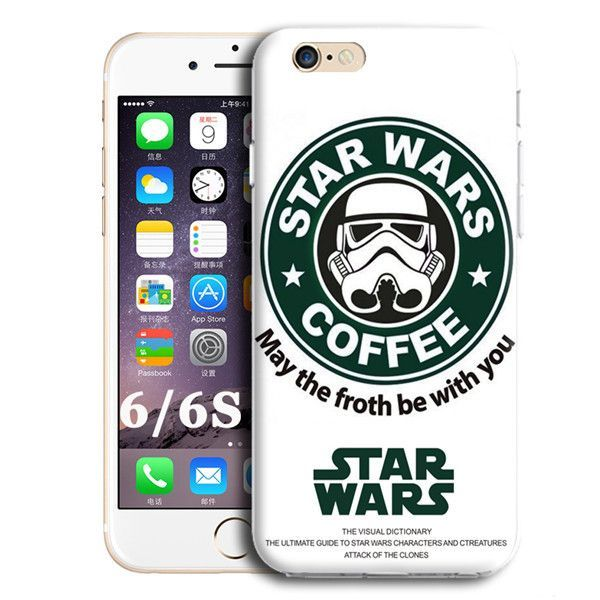 0cdcac69636 FOR IPHONE 6 6S MOBILE PHONE BACK COVER CASE R2D2 STAR WARS COFFEE ...