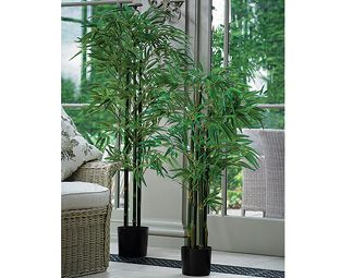 4ft potted bamboo tree bloom artificial flowers