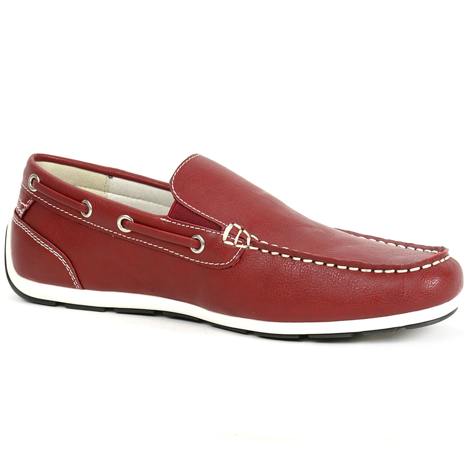bfaa5818ca7e80 GBX Mens Casual Loafers Slip On Double Gore Moc Toe Boat Shoes Comfort  Moccasins