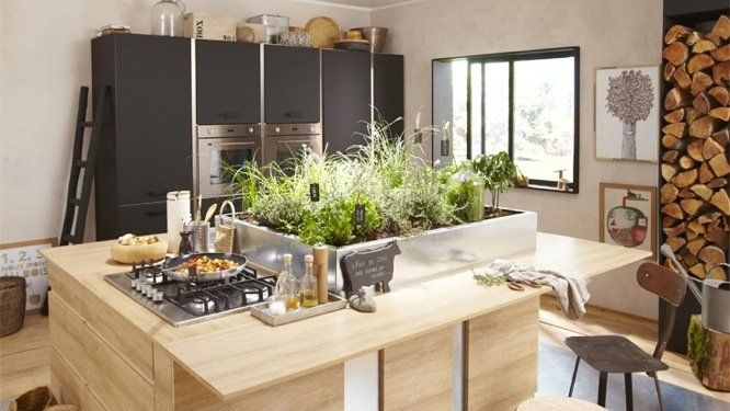 Esprit Atelier Dans La Cuisine Home Kitchens Cool Kitchens Decor