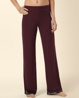 Soma Intimates Merlot Deco Edge Lace Pajama Pant