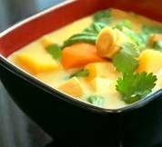 Thai Pumpkin Coconut Soup (vegan + gluten/lactose free)