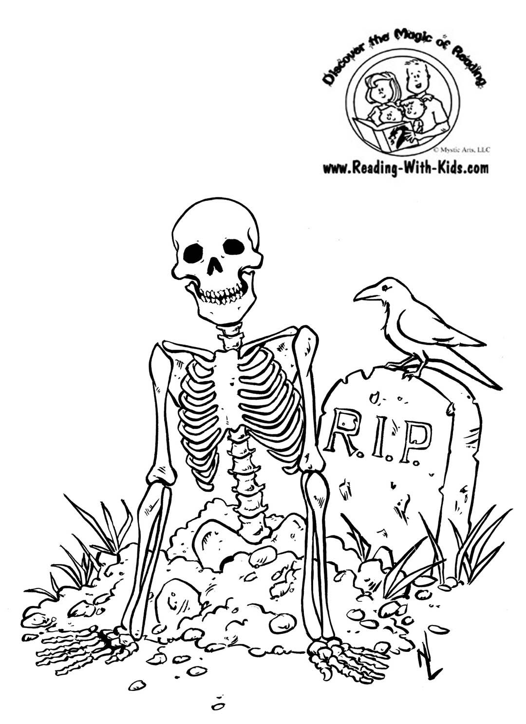 Http Www Reading With Kids Com Images Skeleton Halloween Coloring Pages Free Halloween Coloring Pages Halloween Coloring Pages Printable Scary Coloring Pages