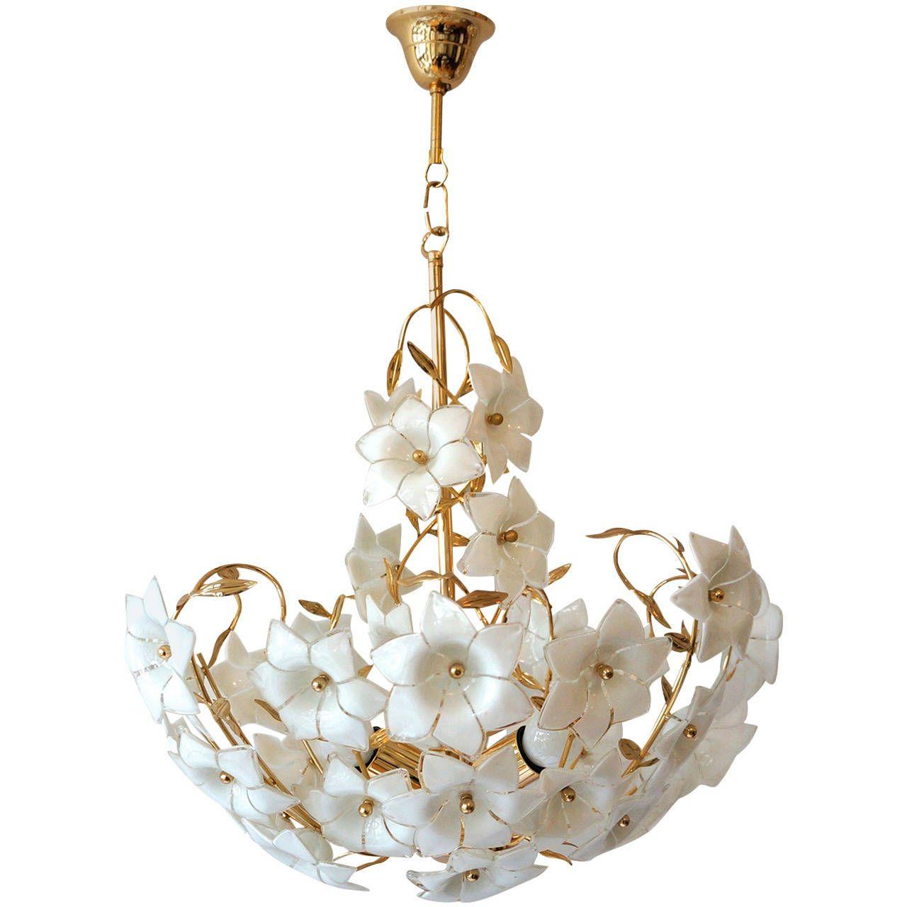 Italian Murano Flower Chandelier Mood Board Printemps