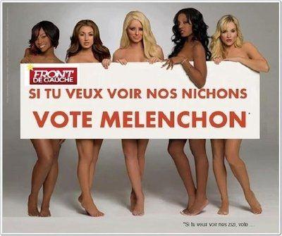 Des supporters du candidat du Front de Gauche, ont publié une affiche.