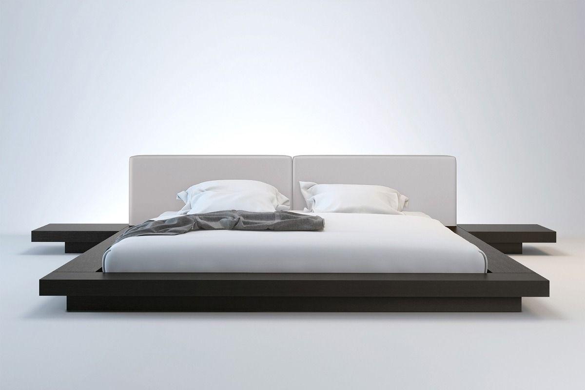 cama japonesa com cabeceira e criados mudos king size | Recamaras ...
