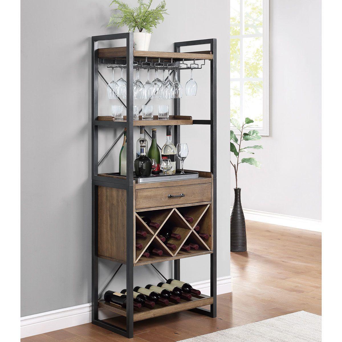 furnishings tall wine bar cabinet