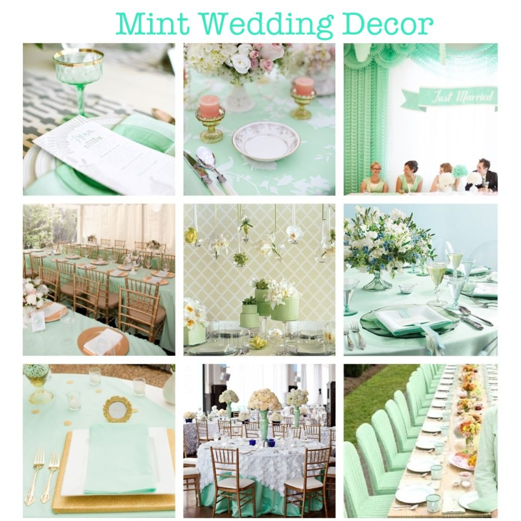 Mint Green Wedding Decor. (mint, Wedding, Decor