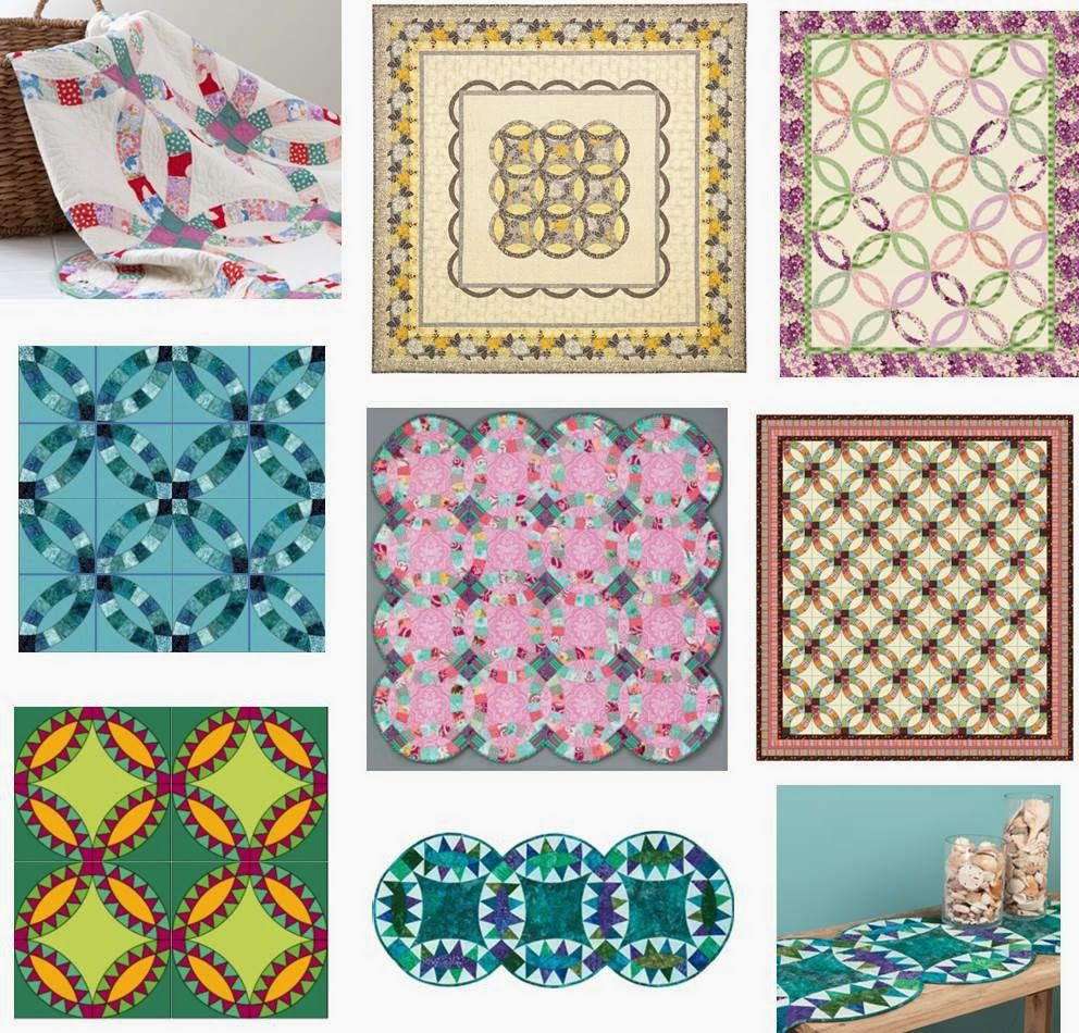 Wedding Ring Quilt Inspiration... and free patterns