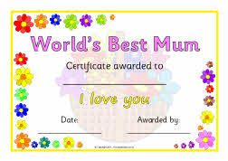 Mother S Day Certificates Sb4371 Sparklebox Mother S Day Printables Mothers Day Crafts For Kids Mothers Day Crafts