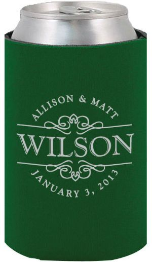 Totally Wedding Koozies.Totally Wedding Koozies Last Name Design Really Like This For The