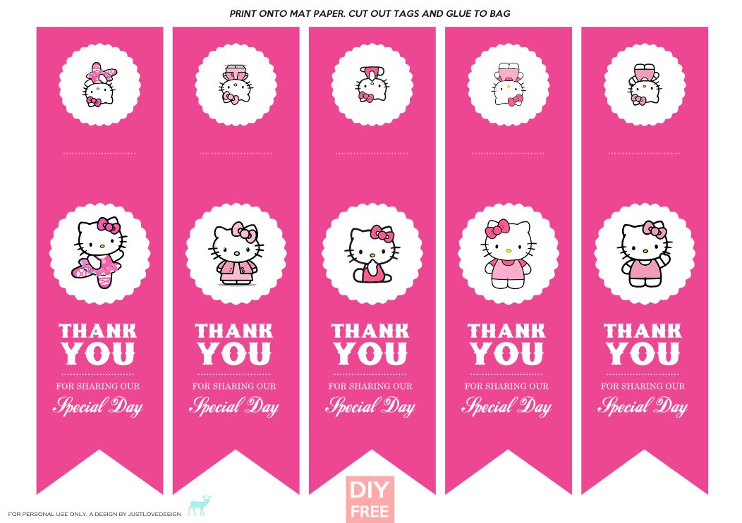 DIY FREE Hello Kitty Gift Bag Tags - JustLoveDesign  60d1f69df63bb