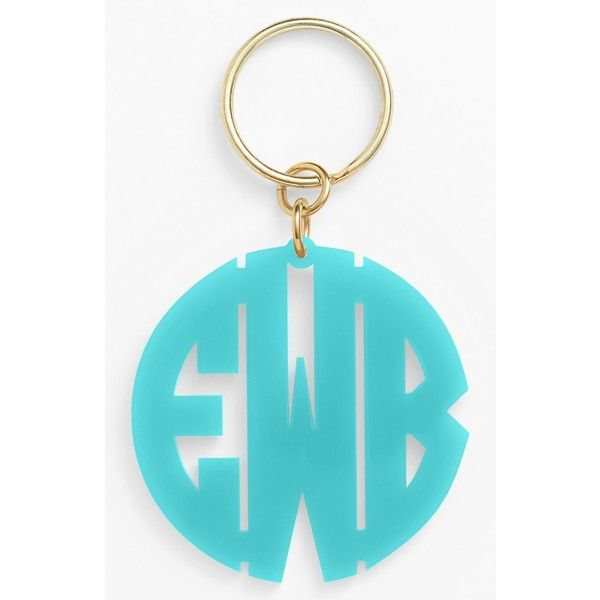 Women s Moon and Lola Personalized Monogram Keychain ( 32) ❤ liked on  Polyvore featuring accessories 9fac1f636