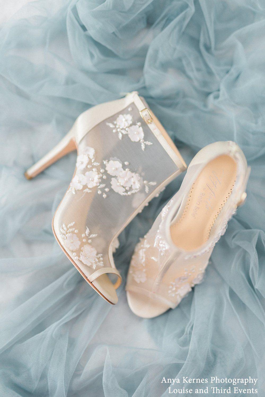 Flower Chiffon Wedding Booties